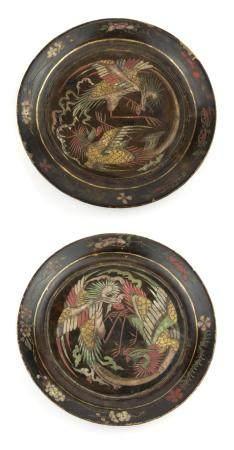 CHINE, EPOQUE KANGXI (1661-1722) Paire d'assiettes