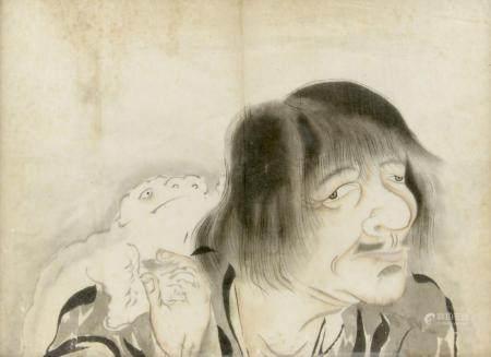 ECOLE CHINOISE ANCIENNE Le Sage et le Crapaud