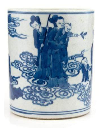 CHINE, 19ème SIECLE Pot à pinceaux
