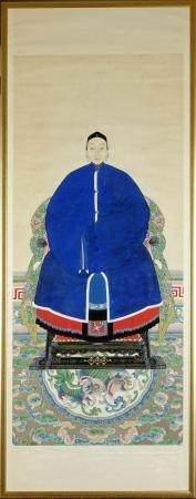 CHINE, PERIODE QING Portrait d'ancêtre