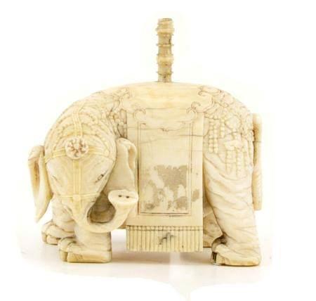CHINE, 18ème SIECLE Eléphant de parade