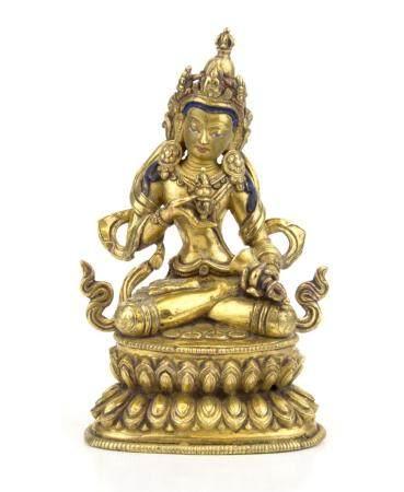 ART SINO-TIBETAIN, 19ème SIECLE Bouddha Vajrasttva Vajra