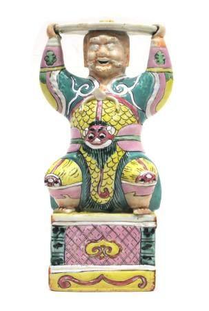 ECOLE CHINOISE, 18ème SIECLE Bouddha souriant