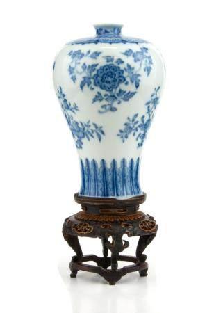 CHINE, REPUBLIQUE Vase Meijping