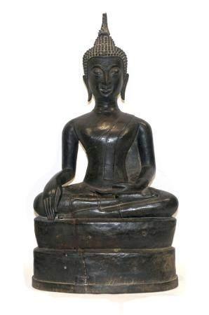 THAILANDE, DYNASTIE SUKHOTHAÏ 17ème SIECLE Bouddha assis