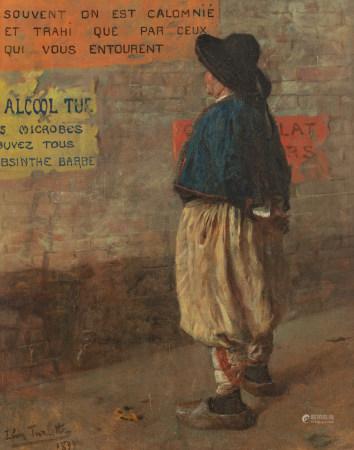 Torlotte Y., 'L'alcool tue', dated 1899, oil on canvas, 65,5 x 81 cm