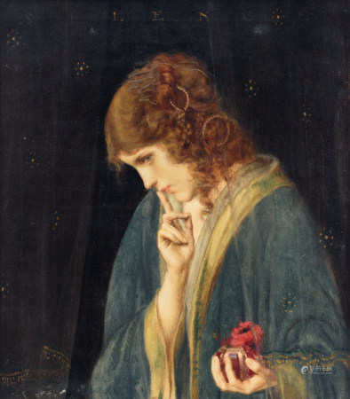 Buisseret L., 'Silence', dated 1919, oil on canvas, 46 x 53 cm
