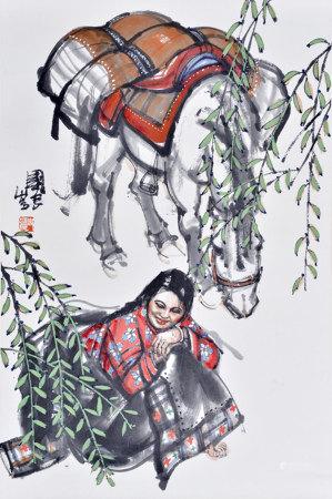 史国良 藏女白马