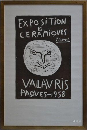 Pablo PICASSO (1881-1973) d'après.   - Exposition de céramiques Vallauris Paques [...]