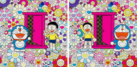 Anywhere Door (Dokodemo Door) in the Field of Flowers; & We Came to the Field of Flowers through Anywhere Door 村上隆 x 藤子・F・不二雄 (1962 年生)