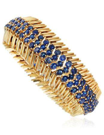 TIFFANY & CO. SAPPHIRE AND GOLD BRACELET