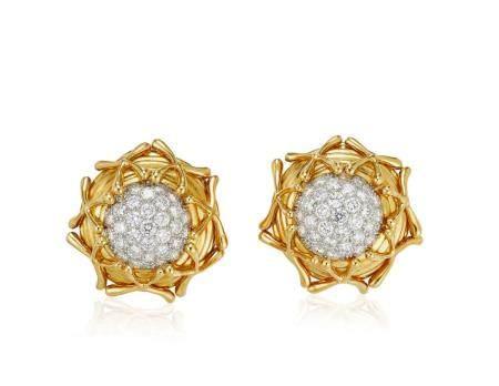 TIFFANY & CO. SCHLUMBERGER DIAMOND EARRINGS