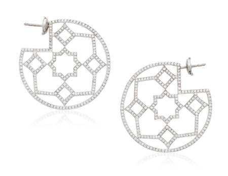 TIFFANY & CO. PALOMA PICASSO 'MARRAKESH' DIAMOND HOOP