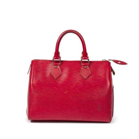 Louis Vuitton Red Epi Speedy 25