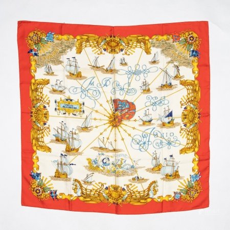 Hermes 'Voiles de Lumieres' Silk Scarf
