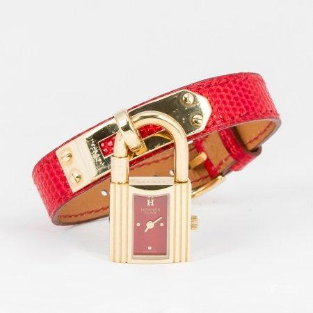 Hermes Red Lizard Kelly Watch
