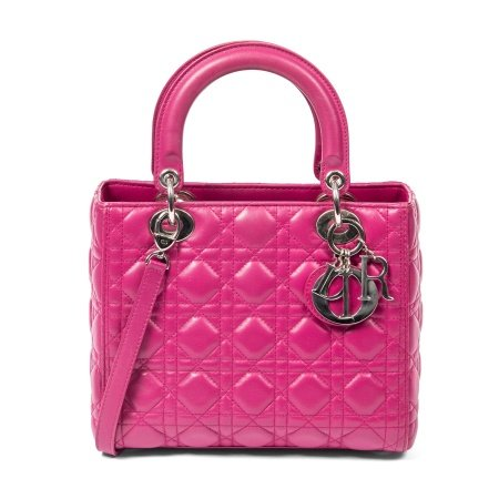 Christian Dior Fuchsia Medium Lady Dior Bag