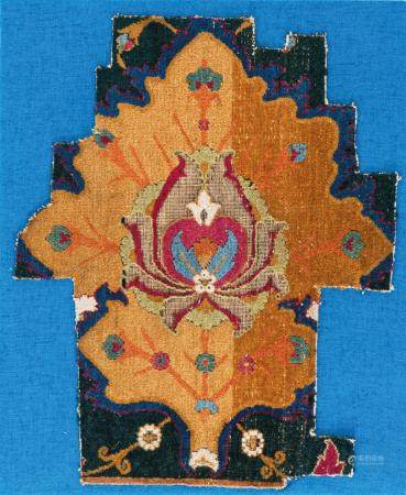 Border Fragment Of An Early Indian Carpet, Decan or Lahore