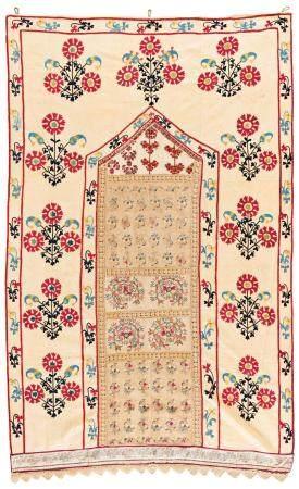 Lakai Suzani with Incorporated Greek Embroidery