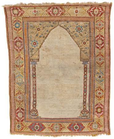 White-Ground Transylvanian Prayer Rug