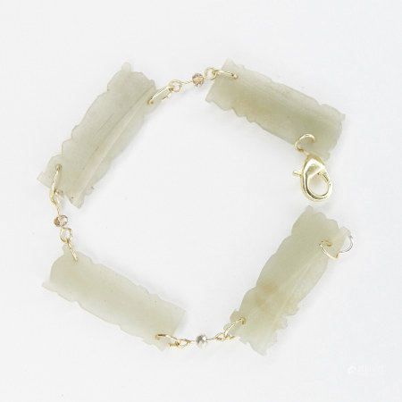 Bracelet w/ Chinese Jade Carvings