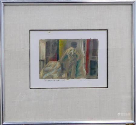 DUANE MICHALS (USA b1932) HAND PAINTED PHOTOGRAPH