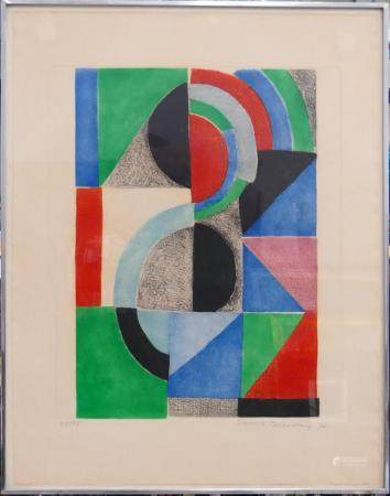 SONIA DELAUNAY SIGNED & NUMBERED LITHOGRAPH