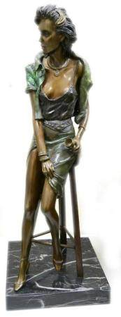 RICHARD SHILOH (POLISH b1946) BRONZE SCULPTURE