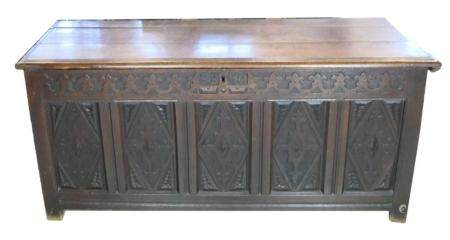 17th CENTURY ENGLISH CARVED OAK CHEST CHRISTIE'S