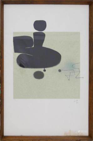 VICTOR PASMORE (UK 1908-1998) SIGNED LITHOGRAPH