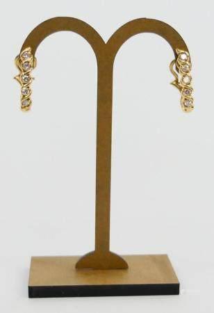 PAIR OF ALA 14K YELLOW GOLD DIAMOND EARRINGS