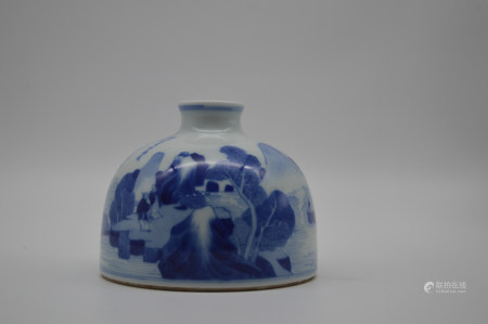 Chinese Kangxi Period Blue And White Porcelain Vessel