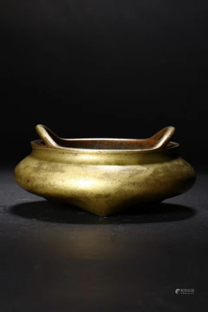 Chinese Bronze Stove With Xuande Mark