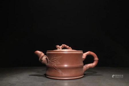 Chinese Republic Of China Period Zisha Teapot