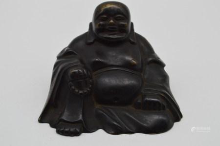 Chinese Bronze Maitreya Statue
