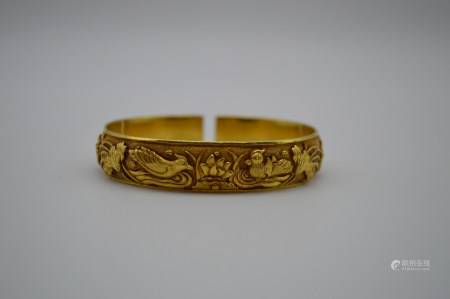 Chinese Pure Gold Bracelet