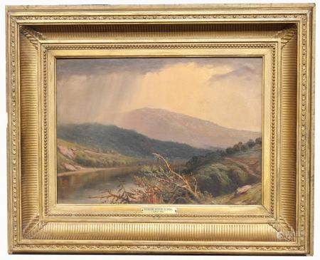 Hudson River School, 19th C. Painting of a Landscape