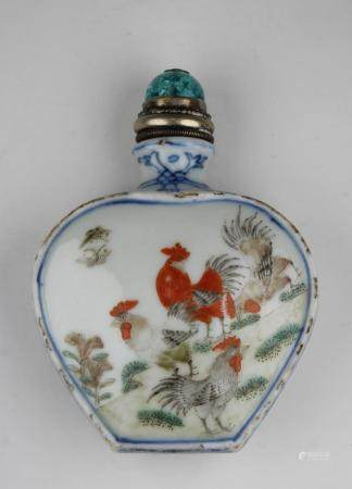 Chinese Ch'ien-lung Period Porcelain Snuff Bottle