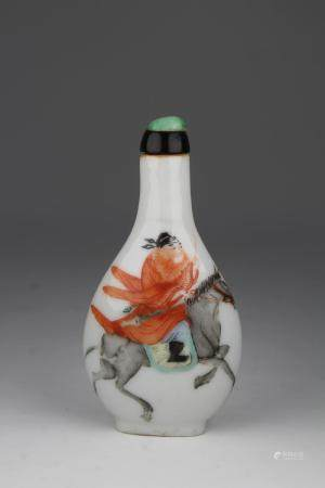 Rare 19th C. Chinese Porcelain Snuff Bottle