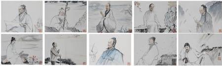 (10) Zhaohe Jiang (China, 1904-1986) Watercolors