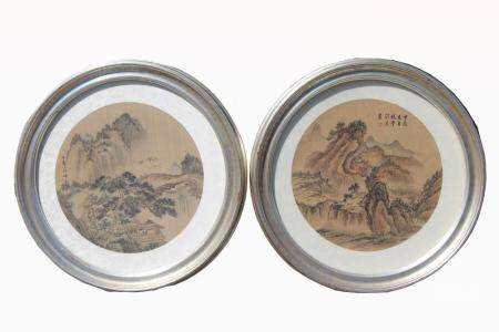 (2) Framed Chinese Watercolor Paintings, Signed