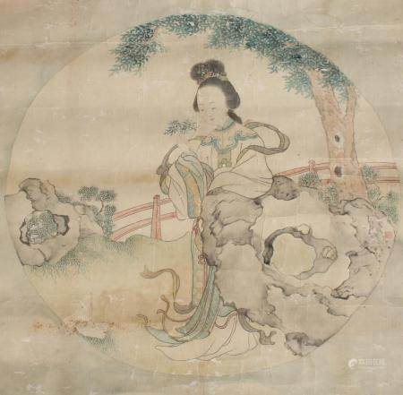 Antique Chinese Scroll Painting, Signed