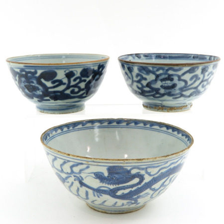 A Collection of 3 Chinese Bowls