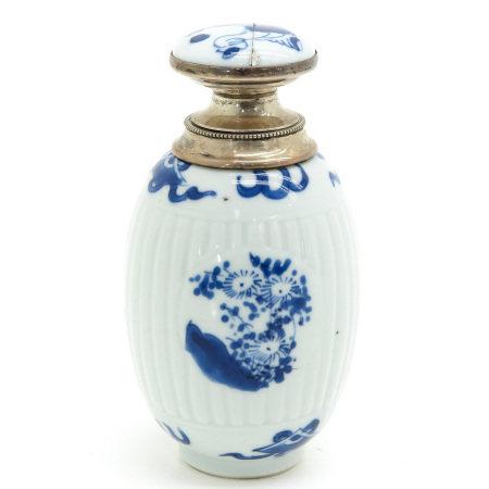 A Blue and White Tea Box