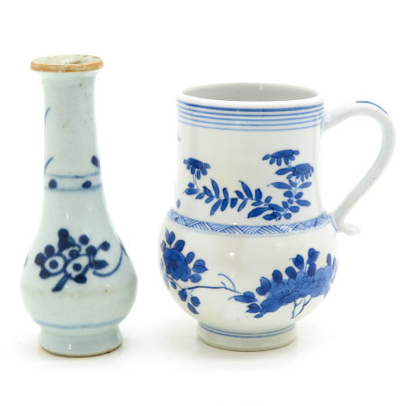 A Chinese Jug and Vase