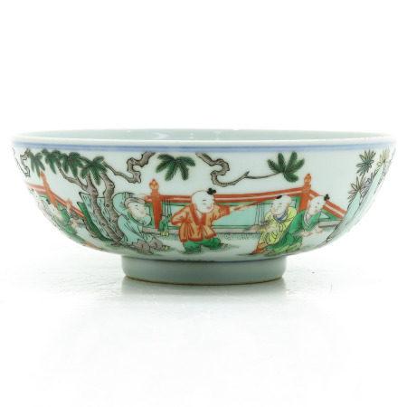 A Famille Verte Decor Bowl