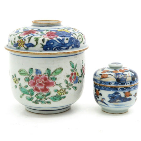 Two Jars with Covers