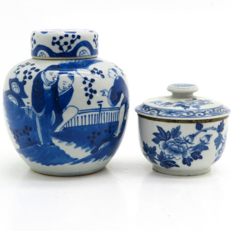 A Ginger Jar and Jar with Cover