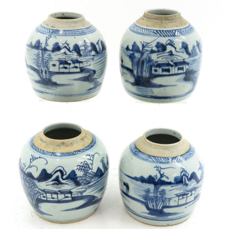 A Collection of 4 Ginger Jars