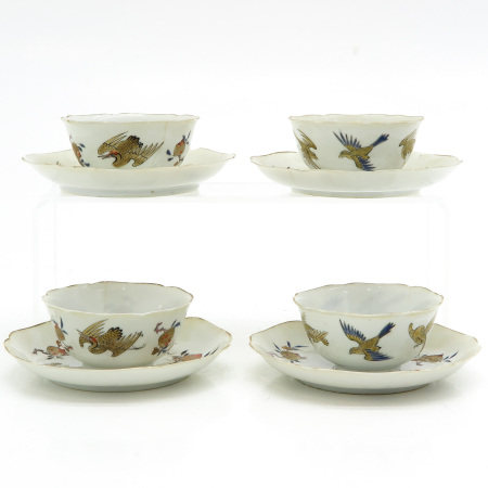 A Series of 4 Cups and Saucers